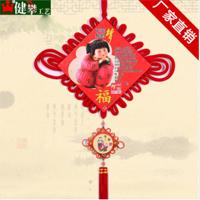 中国梦中国结 红色绒布大板结50公分万马奔腾