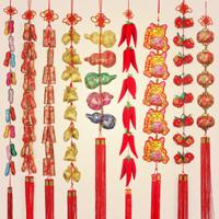 【54号商铺】中国结挂件辣椒福袋串